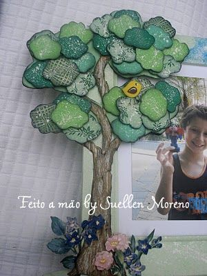 By Suellen Moreno: Passo-a-Passo - Árvore de retalhos de papel.