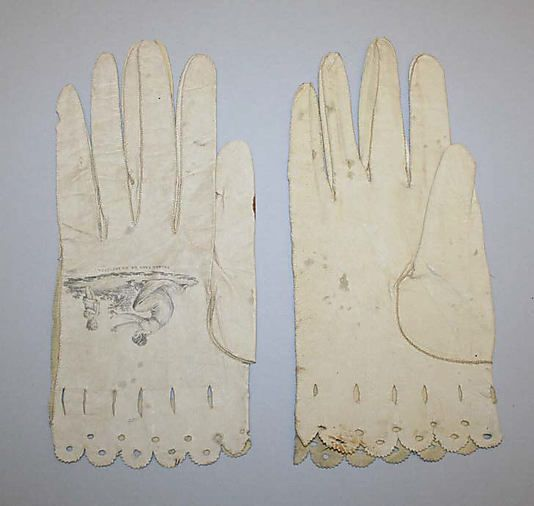 Gloves, early 19th C Spanish. Met museum
