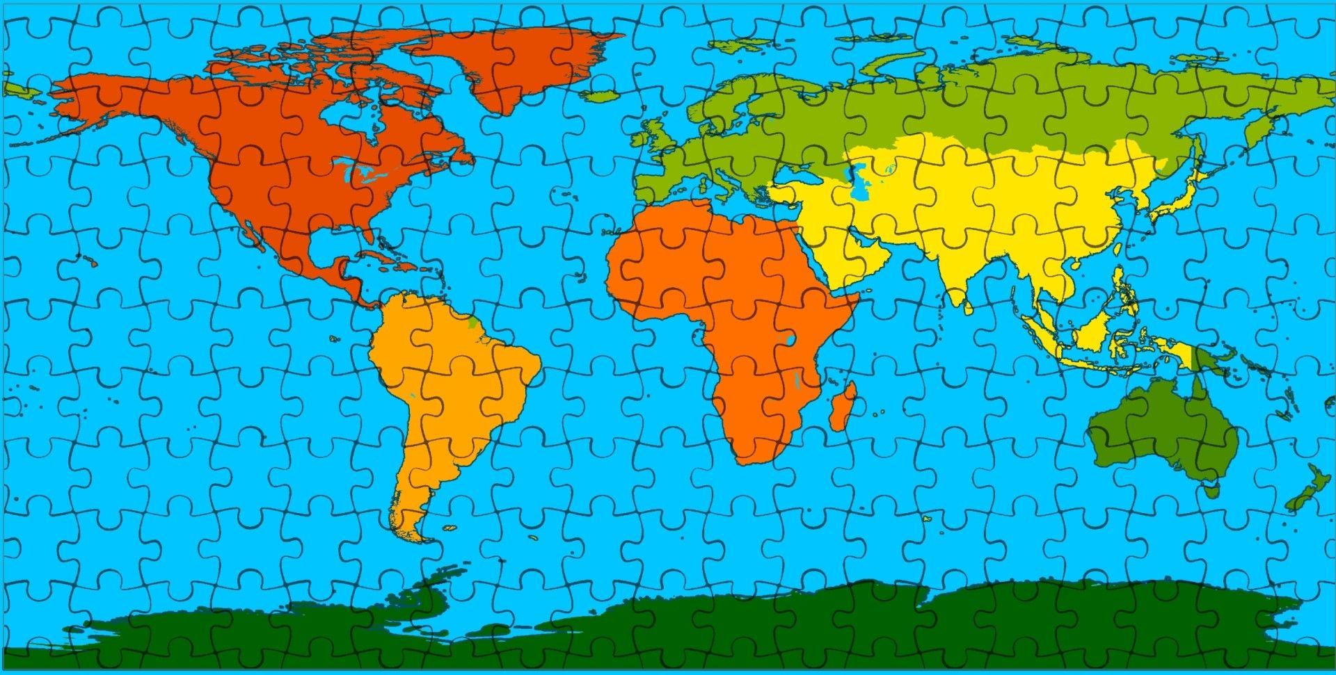 خريطة ألغاز Cartography Map World Map