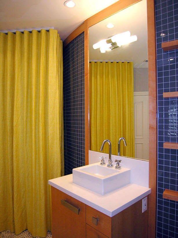 Curtain Ideas Solid pale yellow shower curtain Bathroom