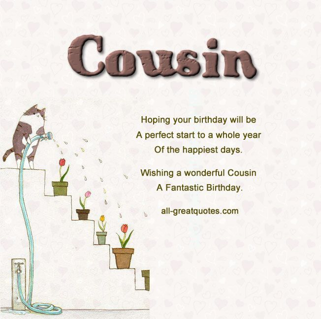 Best free original birthday cards made just for your Cousins – Birthday Cards Cousin