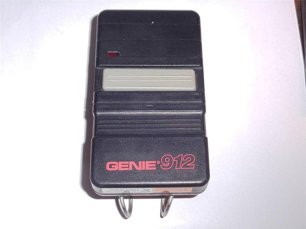 Genuine Genie 912 Garage Door Remote Control Model Gt912 B8qgt50