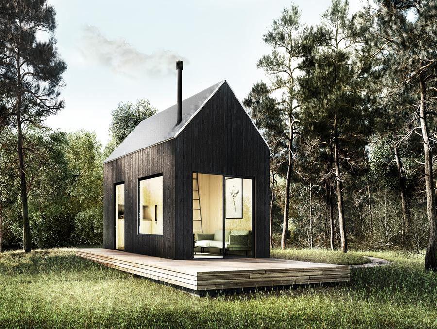New Startup Den Offers Modern A Frame Cabin Plans For 149 Modern Tiny House Tiny House Loft Modern Cabin