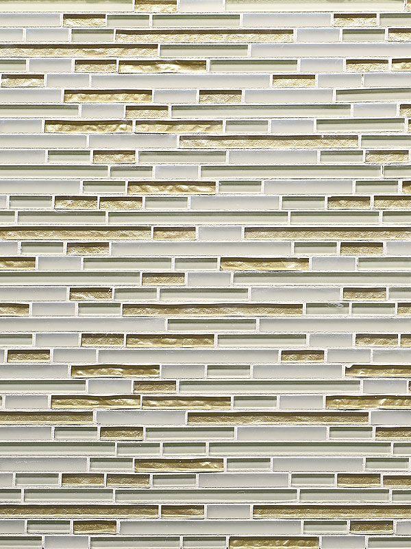 Beige color metallic and matte glass mixed mosaic kitchen backsplash tile. Beige kitchen backsplash ideas