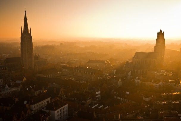 """""""Sunset over Bruges""""  (Belgium) -   Photo and caption by Calvin Lee"""