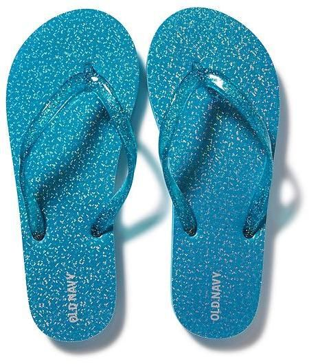 Sparkly flip flops, Girls shoes