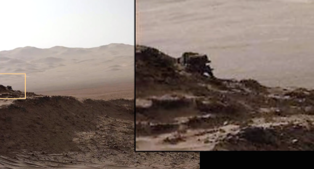 There's already two Rovers on Mars, so UFO spotters will need to be creative with their name for this 'robot dog' spotted last week.