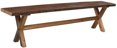 buxton bench in reclaimed barnwood amish reclaimed barnwood rh pinterest com