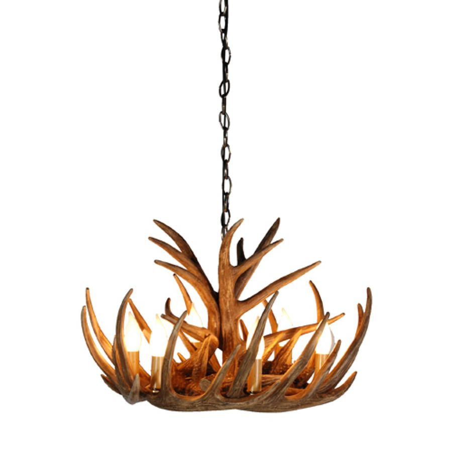 Tall Antler Chandelier 300 X HD Including Chain H