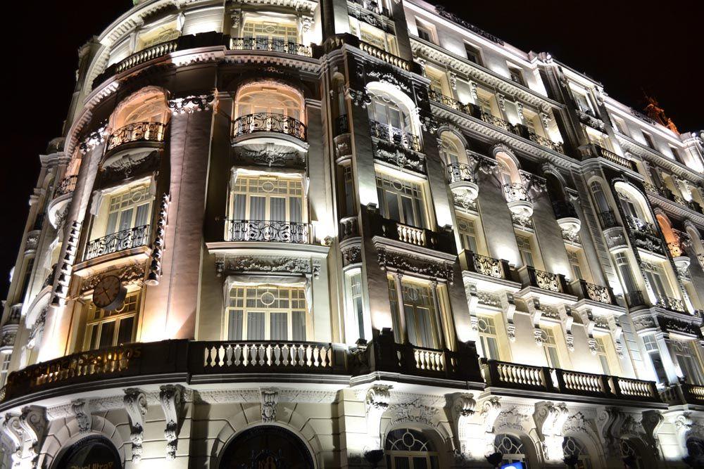 luzes na noite de Madri