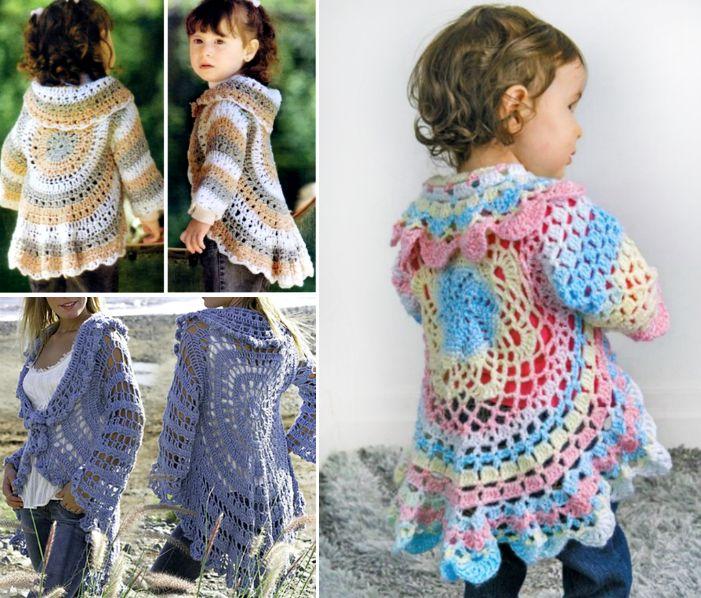 Crochet Circular Jacket Pattern Free Pinterest Best Ideas | Tejidos ...