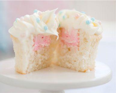 Vanilla Reveal Cupcakes