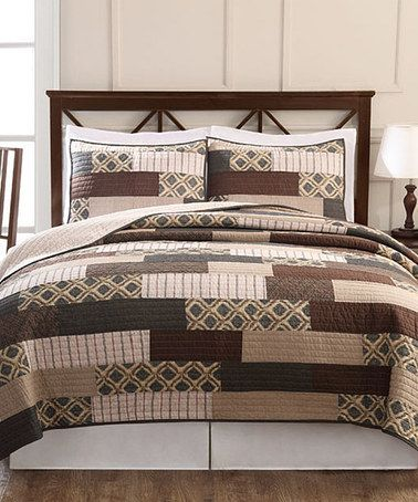 Look what I found on #zulily! Rustic Patchwork Stripe Quilt Set by Pem America #zulilyfinds