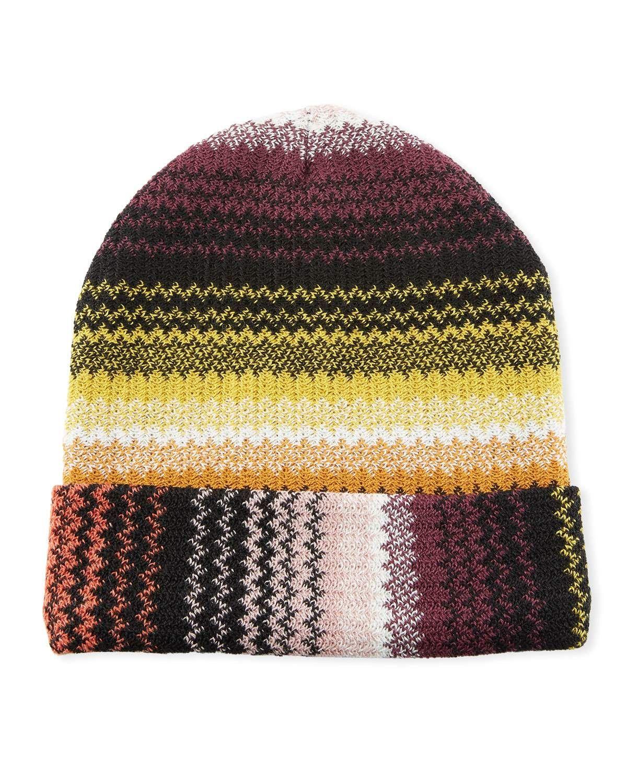 2c0676cb0b2356 Missoni Accessories Zigzag Wool-Blend Beanie Hat   Products   Beanie ...