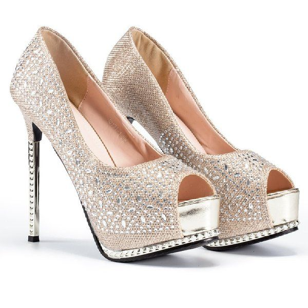Women's Evening Party Bridal Platform High Heel Pumps Shoes