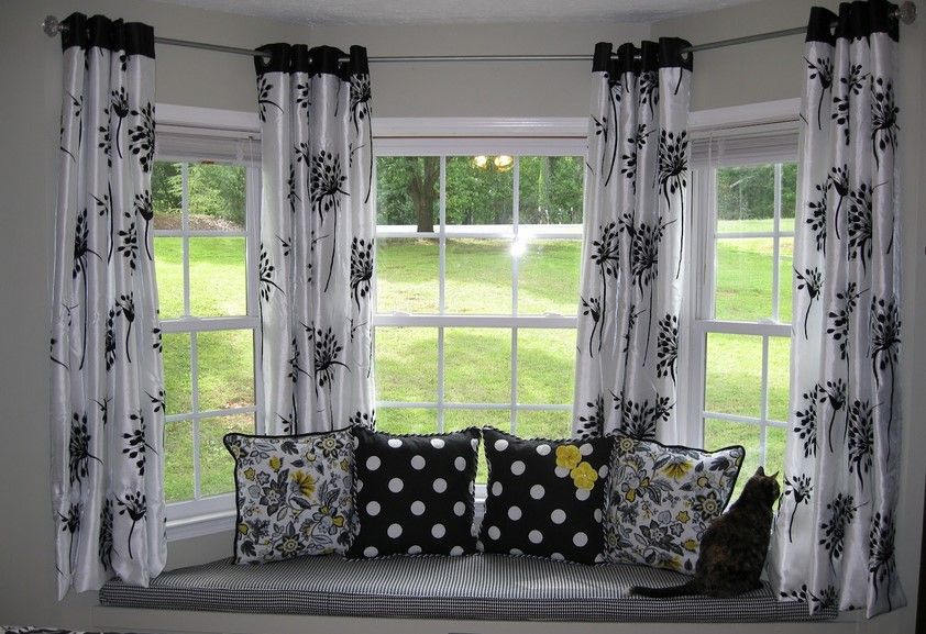 The Most Effective Solutions To Your Bay Window Curtains Window Treatments Living Room Dining Room Curtains Diy Bay Window Curtains