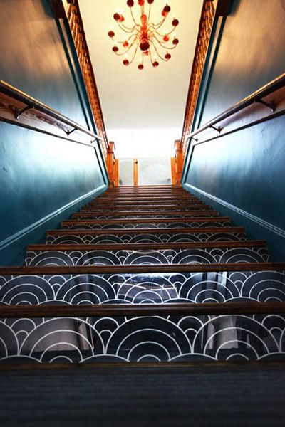 Plexiglass On Staircase Risers Wallpaper Stairs Painted