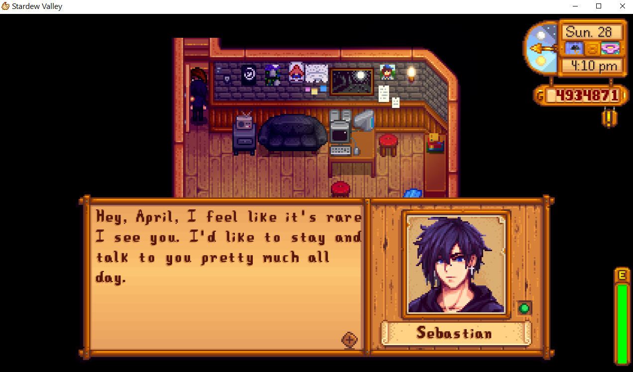 Flirty Seb Gives Presents At Stardew Valley Nexus Mods And Community Stardew Valley