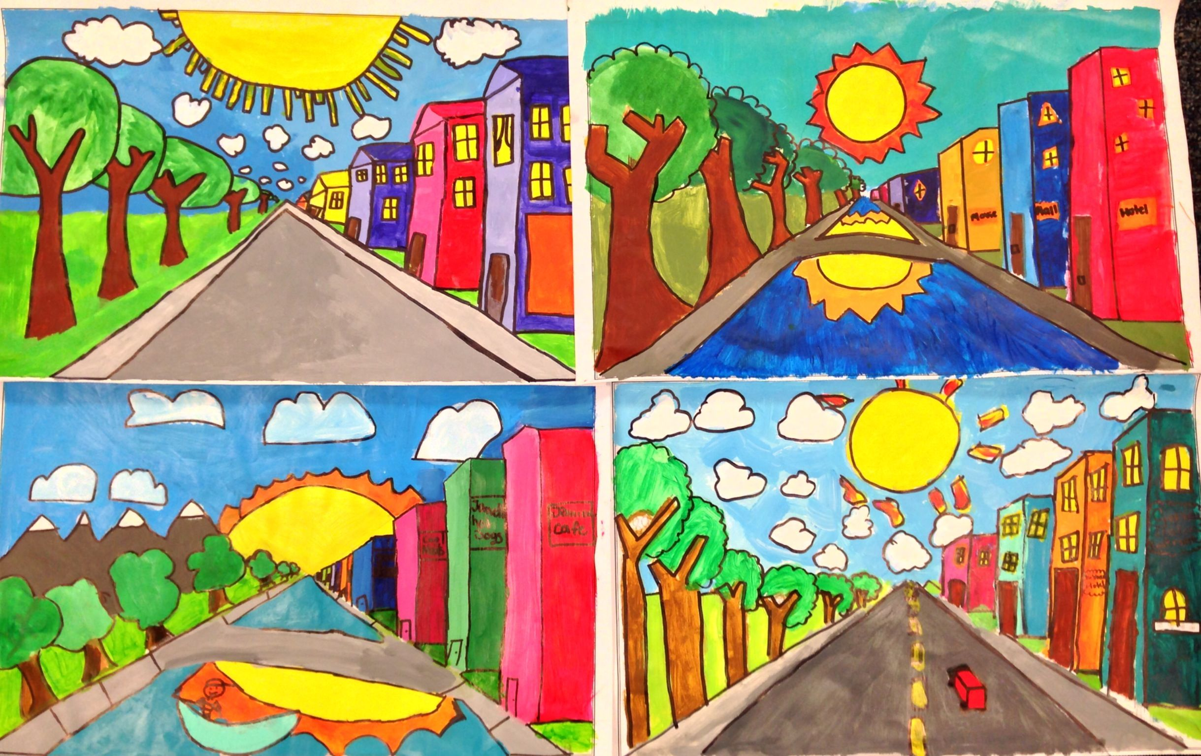 One Point Perspective 4th And 5th Grade