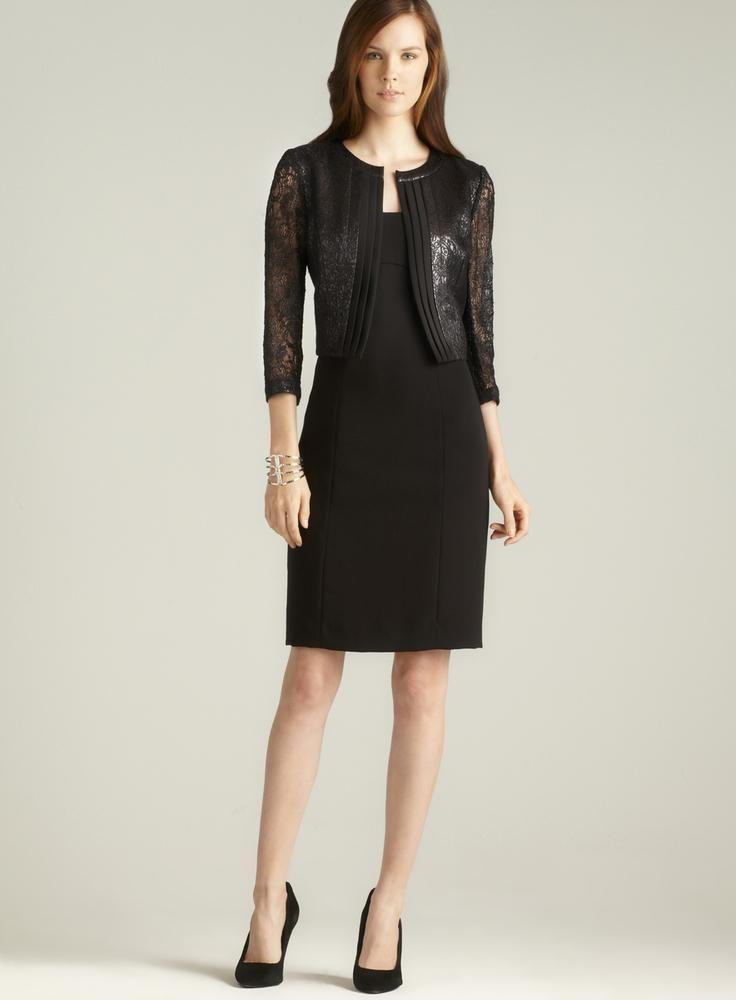 Tahari metallic #dress #fashion #style $79 (reg 229)