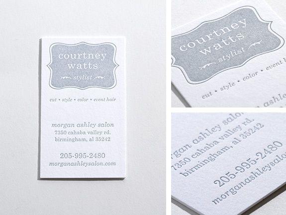Hairstylist business card letterpress one color crinkpress hairstylist business card letterpress one color crinkpress reheart Image collections