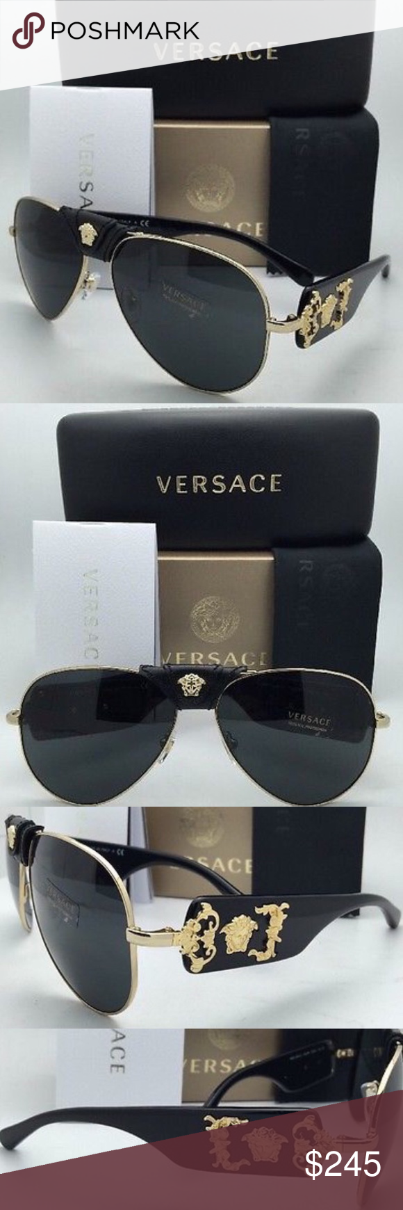 NWT AUTHENTIC Versace Sunglasses VE 2150-Q NWT | Accesorios ...