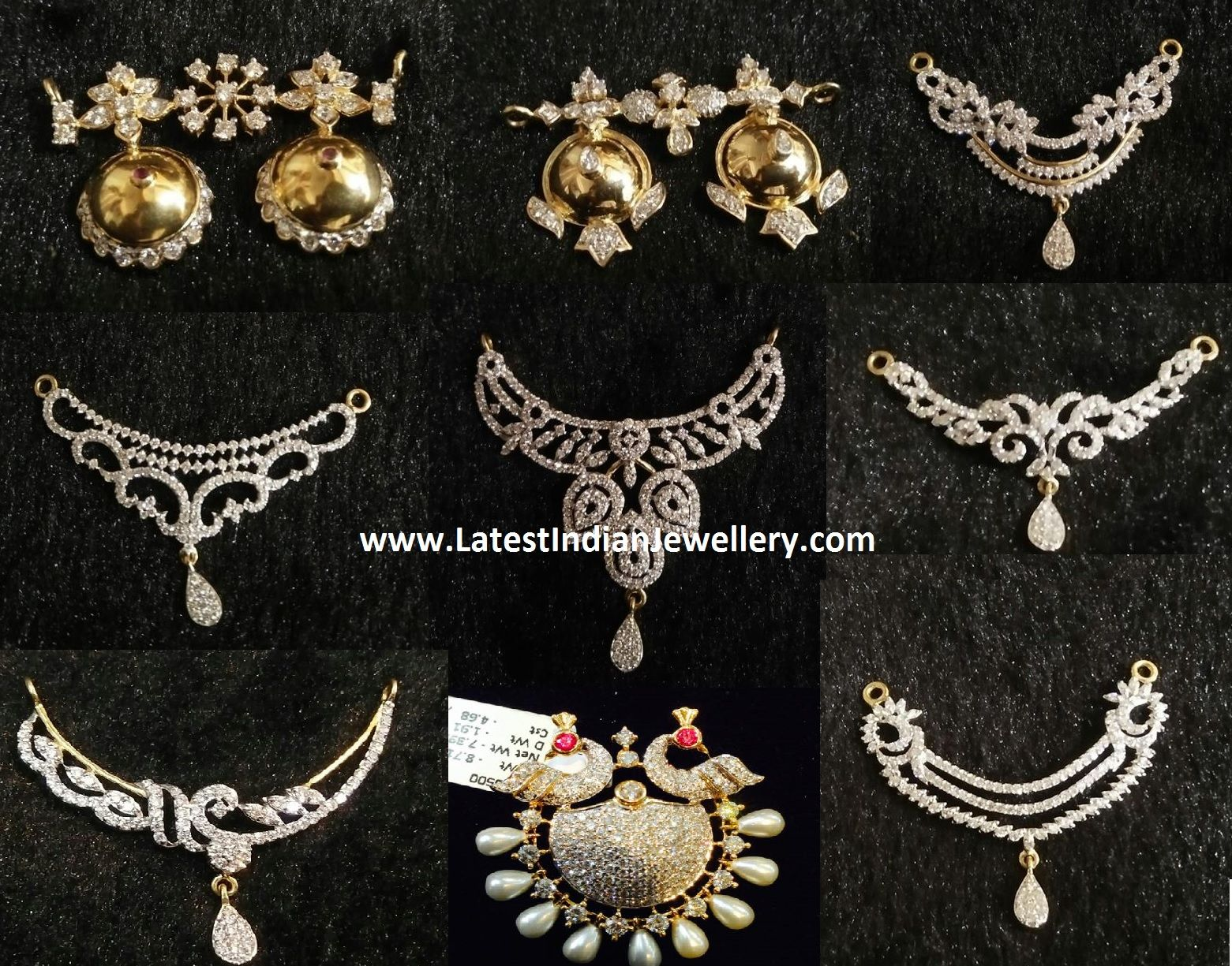 Diamond mangalsutra pendants collection nallapusalu pinterest