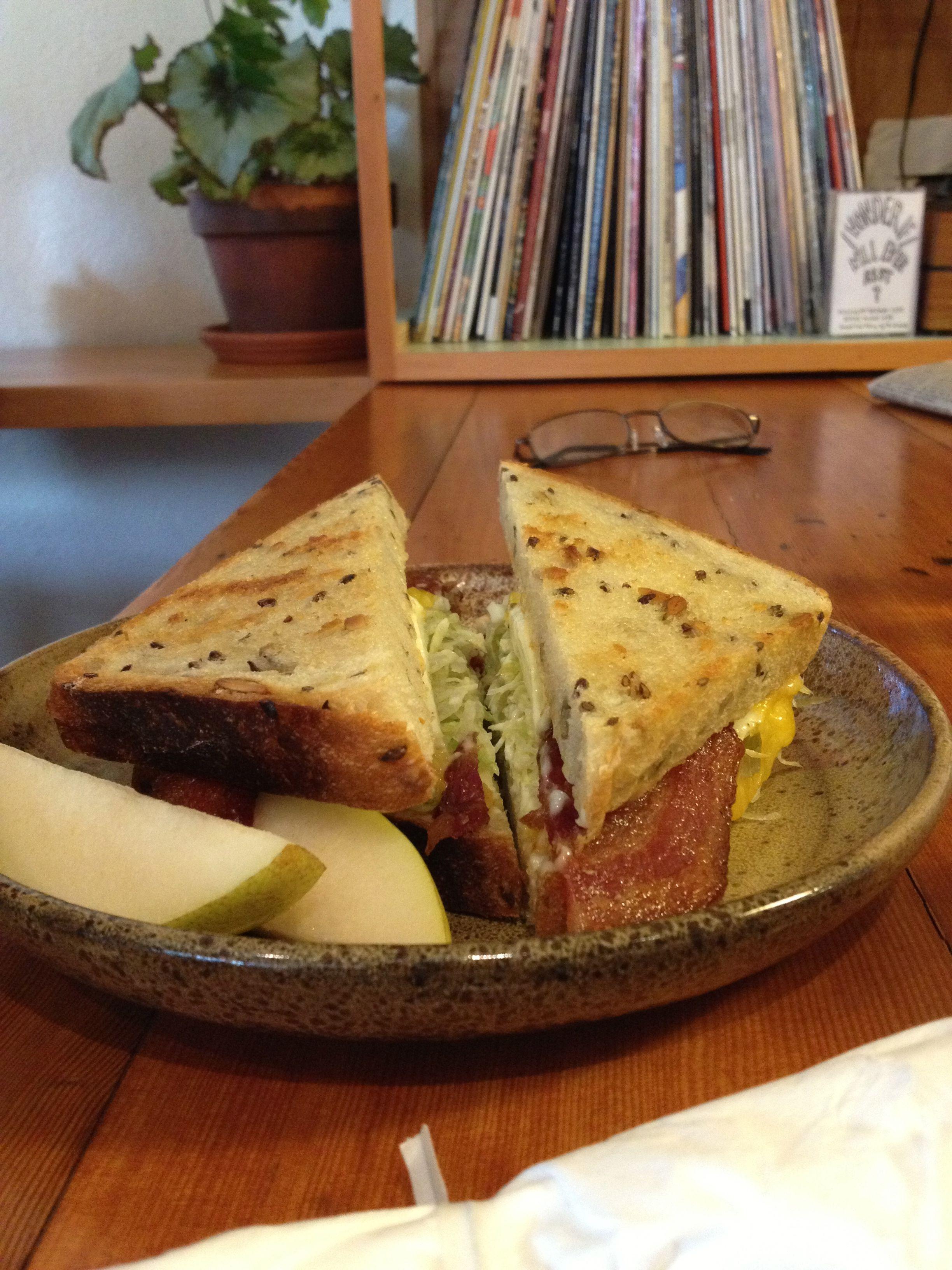 Egg and bacon sandwich at Sweedeedee Bacon sandwich