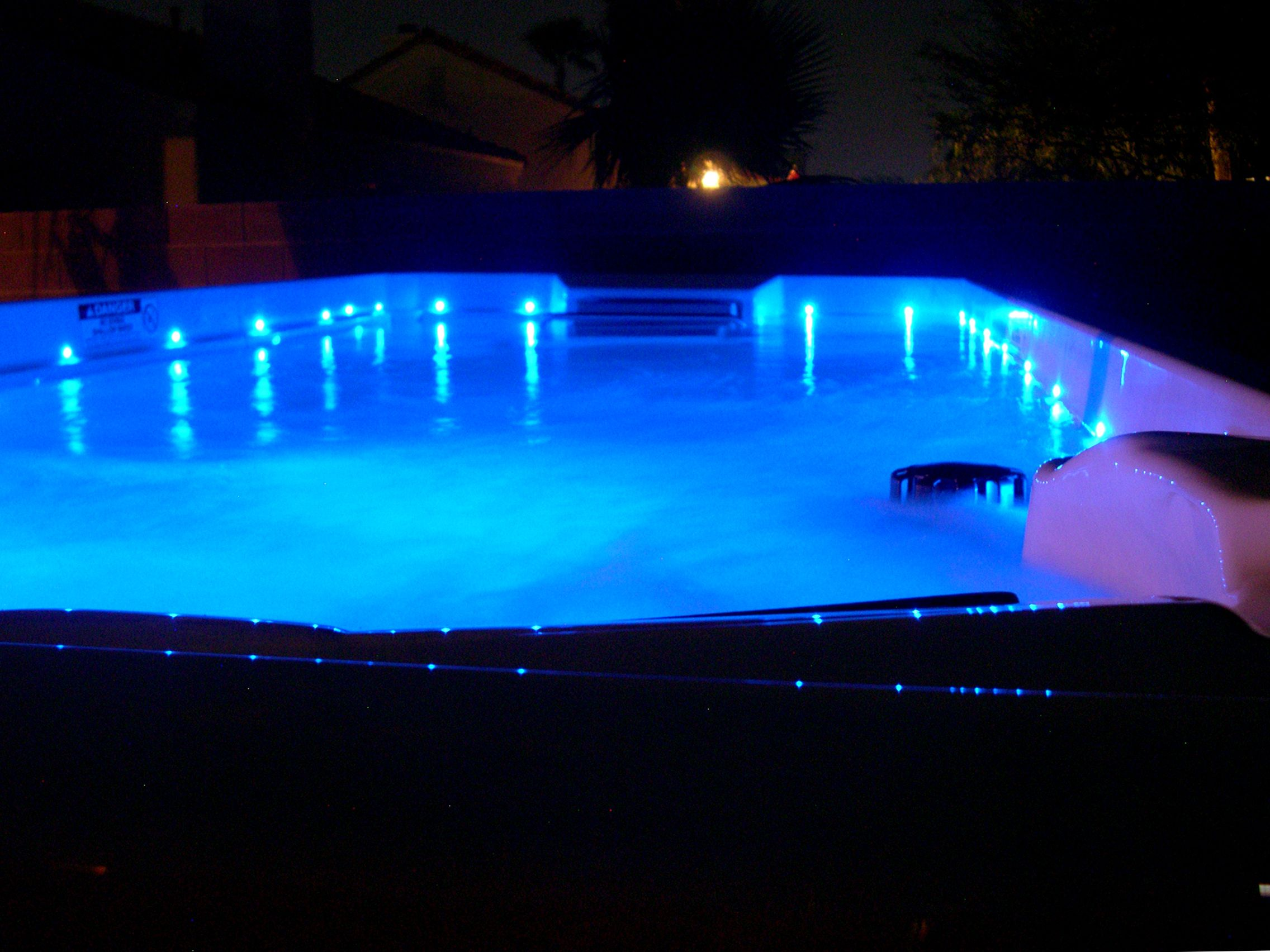 The NEW 15\' Endless Pools Swim Spa with LED lights is a ...