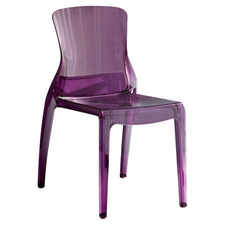 A perfect way to jazz up the office or provide guests with stylish seating, this eco-friendly side chair features a chic purple finish.