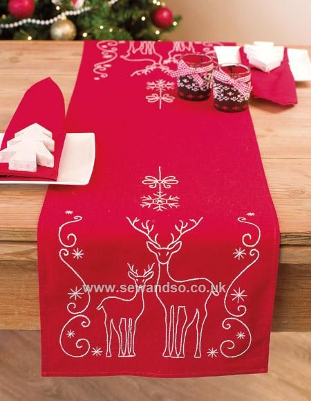 Deer & Snow Flakes Runner - 30 x 105cm