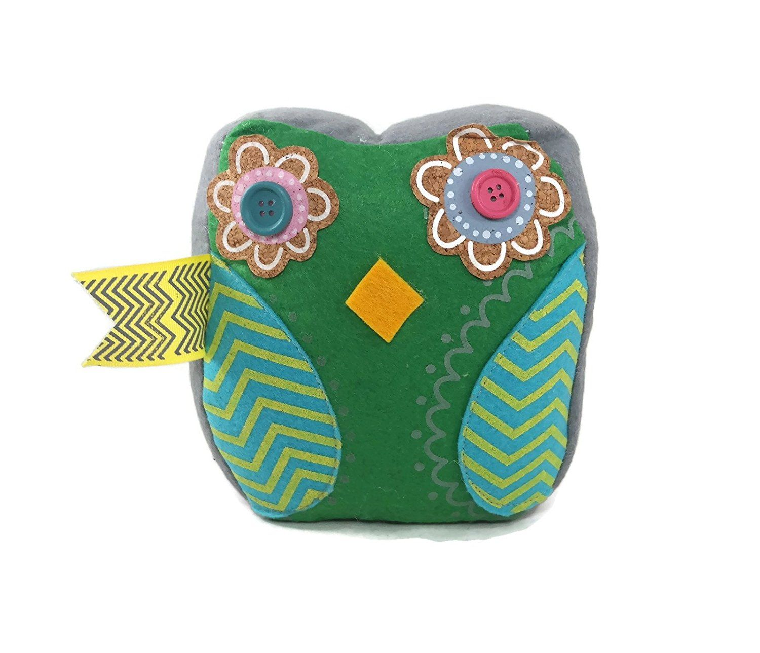Demasa Owl Flower Patterned Fabric Weighted Door Stop Doorstopper Green Check Out The Image By Visiting The Fabric Patterns Flower Patterns Fabric Weights