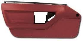 C4 1984 1985 Corvette Standard Door Panel Set Red Panel Doors Corvette Window Seal