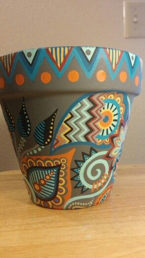 Another View Pottery Painting Designs Painted Flower Pots Flower Pot Crafts
