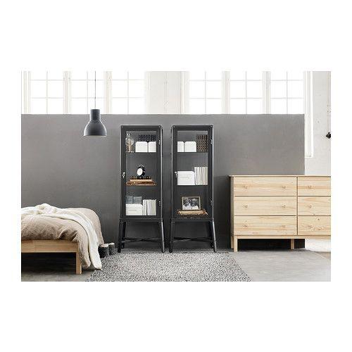fabrik r vitrine dunkelgrau ikea furniture. Black Bedroom Furniture Sets. Home Design Ideas
