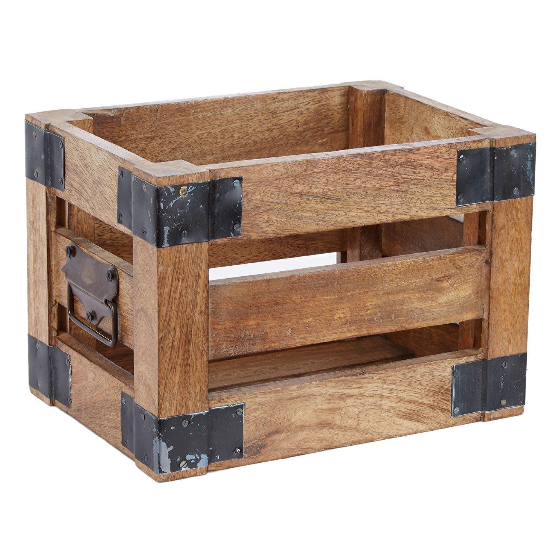Small Wooden Storage Crate Tk Maxx Home Decor Wooden Storage