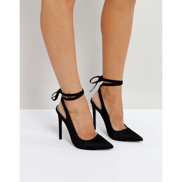 3a8fbdcc4ea ASOS PIPE DOWN Spitze High-Heels ($48) ❤ liked on Polyvore ...