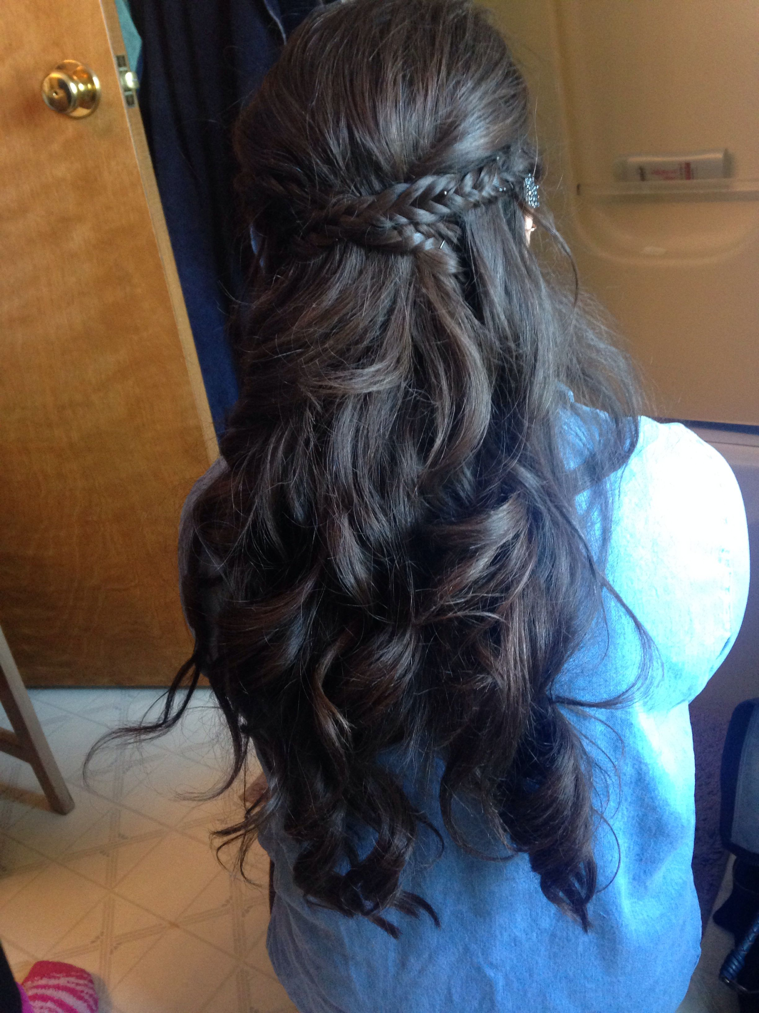 Prom/homecoming Hair! Curled, Half Up/half Down With