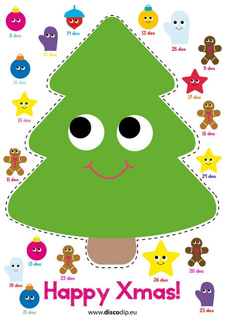 Xmas Advent Calendar by wwwdiscodipeu Download, make a print, and