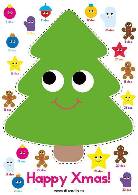 Kerst Kleurplaten Om Uit Te Printen.Xmas Advent Calendar Kerst Nieuw Kerst Ideeen Kerst