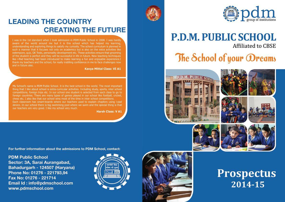 Book Cover Layout Bangalore : Pdm public school prospectus print design projects