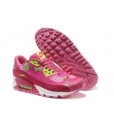 sale retailer 50f41 419d1 Basket Nike Sportswear Air Max 90 Premium Tape c mo Femme Rose Vert Lime  Rose Pas Cher Vente
