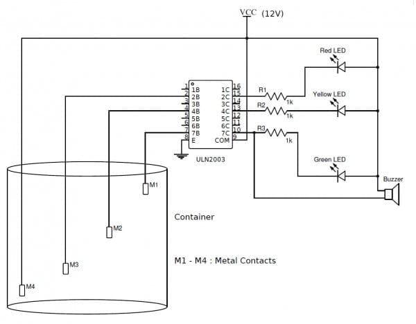 Water Level Indicator Circuit Diagram  U00een 2020