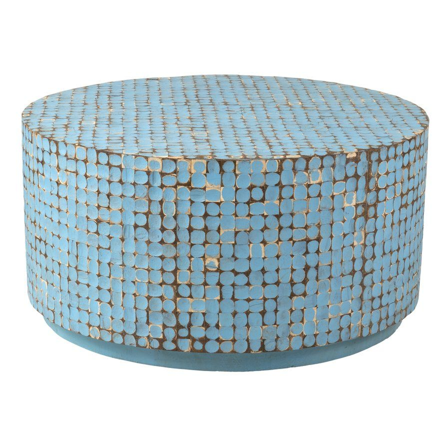 Cassia Coffee Table In Blue Circular Coffee Table East At Main