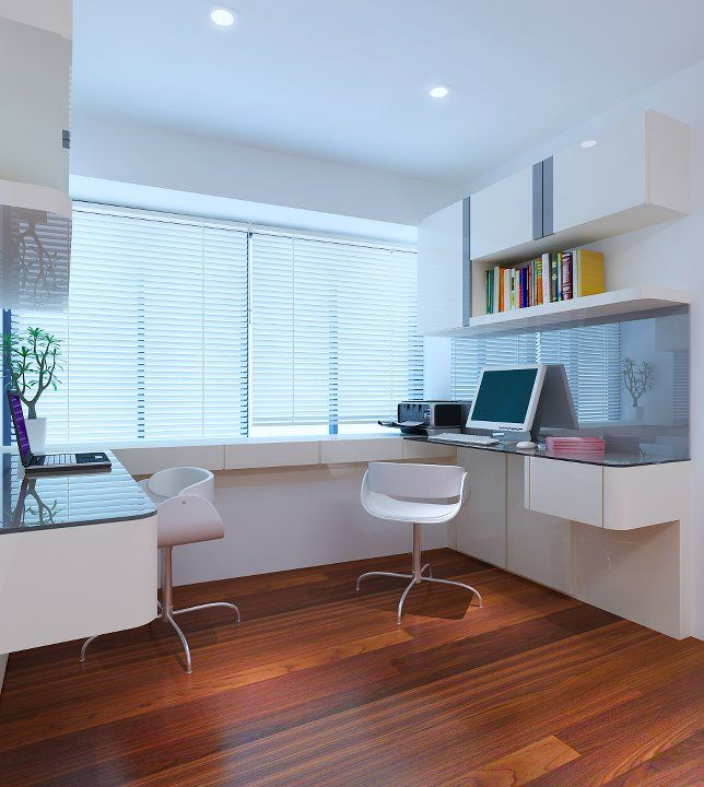 Classy study room interior design in singapore m3 design studio | Cozy ... | Study room | Study ...