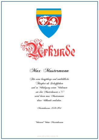 Beispiele für selbst erstellte Urkunden, Diplome und Zertifikate 49