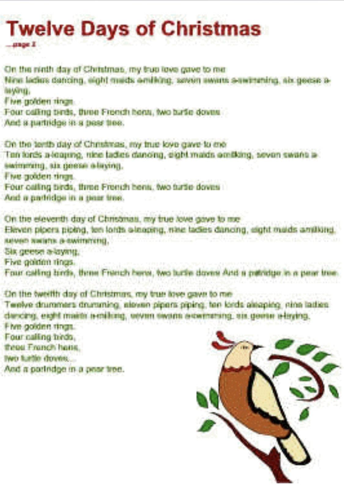 Pin by Rhonda Martin on Christmas Christmas lyrics