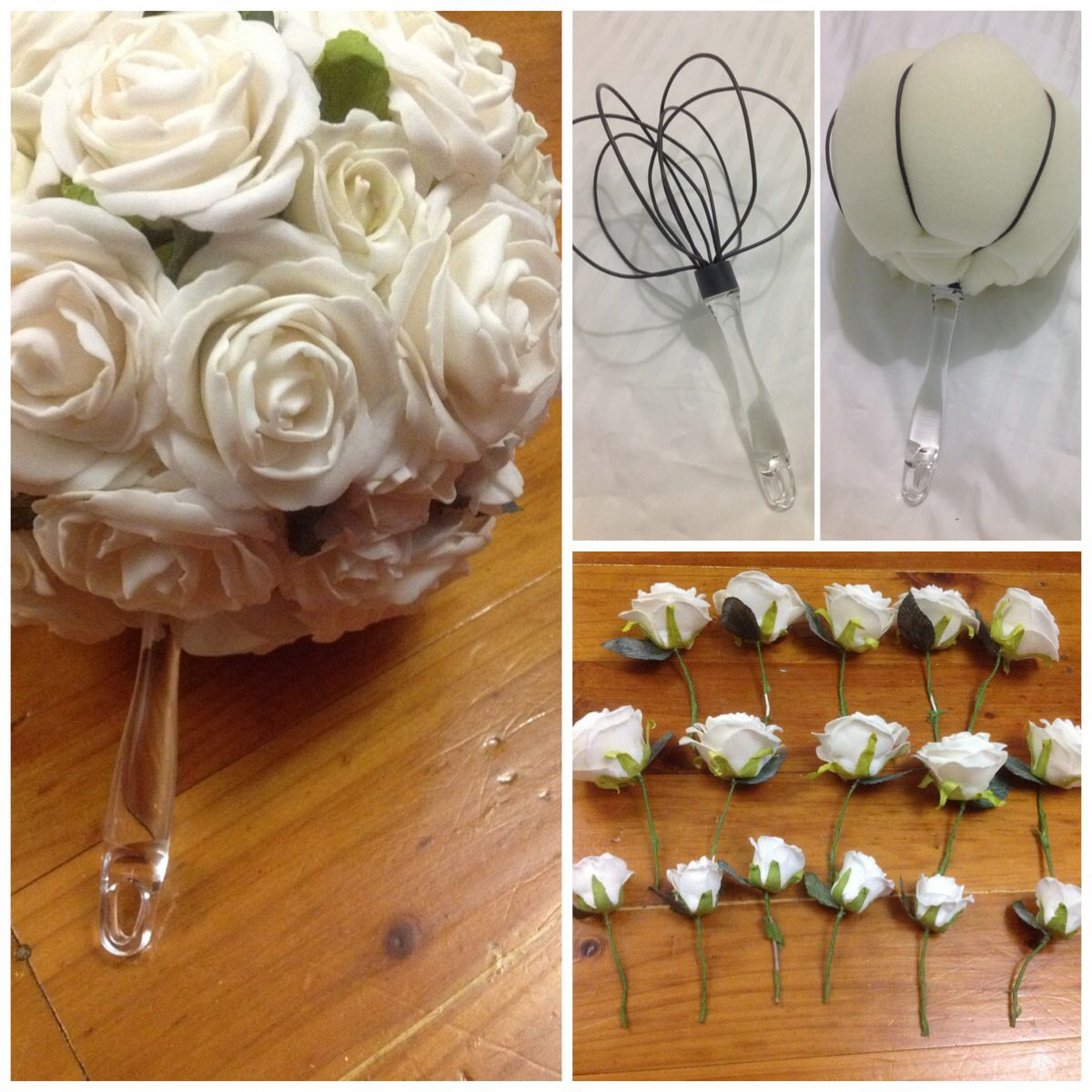 Handmade Bridal Bouquet Egg Beater 2 Kmart Foam Stuffing