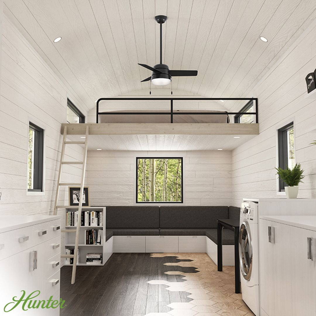 Modern farmhouse in a tiny home. Keep air flowing in your