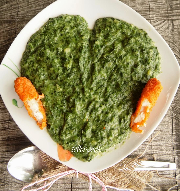 teller-cook: Spenótfőzelék krumplival